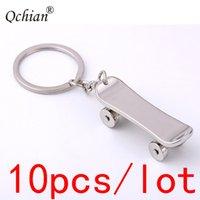 Wholesale keychain s for sale - Group buy 10pcs Lovers Skateboard Metal Keychain Chain Skate Car Key Ring Link Pendant Gift s for Women Men Boys Girls