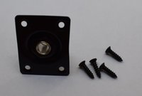 Wholesale square style jack plate guitar bass jack quot mm output input jack in col chrome and black