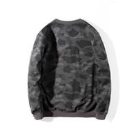 Mens Hoodies Fashion Mens Stylist Cartoon Shark Printing Hoodies Jacket Men Womens High Quality Casual Sweatshirts 5 Colors Size M-2XL