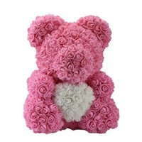 love bubbles 2021 - Rose Bear Simulation Rose Bear Creative Christmas Valentine's Day Birthday Gift Bubble Rose Bear love 40cm