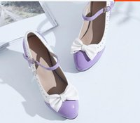 Wholesale send code resale online - Free send Hot Waterproof table Coarse heel High heeled single shoes big size women shoes small code