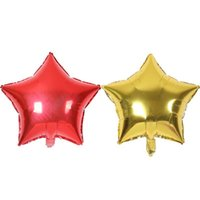 Wholesale baby showers decorations for sale - Group buy 10pcs inch Five Pointed Star Foil Balloon Baby Shower Wedding Children s Birthday Party Decorations Kids Balloons Globos S6mz wmtlFw