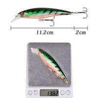 1pcs Minnow Fishing Lure Laser Hard Artificial Bait 3d Eyes 11cm 13g Fishing Wobbler Diving 0.5m-1.5m Crankbait jllpBQ