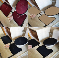 Trend Style Toilet Seat Covers Sets Indoor Door Mats U Mats Suits Eco Friendly Bathroom Accessorie Free Shipping