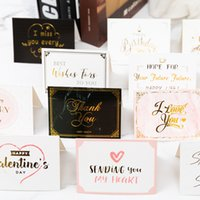 Wholesale valentines day cards resale online - valentine day postcard with envelope thank you happy birthday wish you all the best greeting cards AHD3001