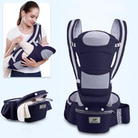 Wholesale ergonomic carrier resale online - 0 M Ergonomic Baby Carrier Using Way Infant Baby Hipseat Carrier Front Facing Ergonomic Kangaroo Baby Wrap Sling Travel