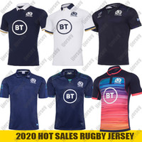 2021 Scotland Rugby Jesery home national team Scotland POLO T-shirt rugby Jerseys Mens shirts Size S-5XL