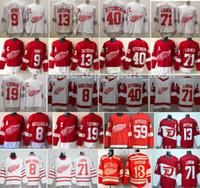 Reverse Retro Detroit Red Wings Jersey Hockey Dylan Larkin Pavel Datsyuk Steve Yzerman Sergei Fedorov Bertuzzi Anthony Mantha Gordie Howe