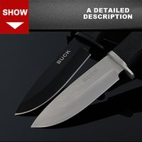 Wholesale Stainless steel blade outdoor use small straight knife wilderness survival non folding high hardness sharp tactical tools
