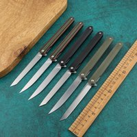 Wholesale pen knives for sale - Group buy Magic pen folding knife D2 steel G10 handle lightweight pocket hunting survival knife outdoor camping slice fruit knife