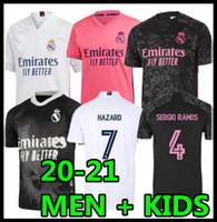 Wholesale 2020 real madrid soccer jerseys hazard BENZEMA sergio ramos modric football shirt men kids camisetas BENZEMA RODRGO HRFC