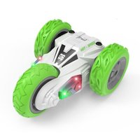 Wholesale Three wheeled remote control double sided stunt dumper cross country climbing rc car light charging children boy electric toys gift