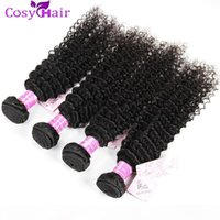 Wholesale jerry curl human hair extensions for sale - Group buy Mongolian Kinky Curly Virgin Human Hair Weave Bundles Unprocessed A Jerry Curl Remy Hair Extensions Natural Color Dyeable Double Weft