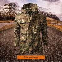 Wholesale lurker shark skin for sale - Group buy LASPERAL Military Tactical Jacket Men Lurker Shark Skin Softshell V5 Waterproof Coat Camouflage Hooded Brand Army Camo Clothing