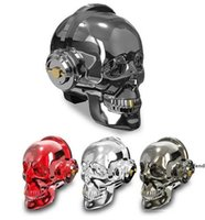 Wholesale skulls mp3 for sale - Group buy Skull Head LED Lighting Speaker Wireless Bluetooth Bass Stereo Music Player Dazzle USB Portable Wireless Bluetooth Speaker Halloween Gift