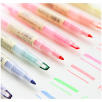 Wholesale japanese school supplies resale online - Dual Head Writing In Highlighter Pen Japanese Stationery Cute Office School Supplies Dual Head F sqcTwD new_dhbest