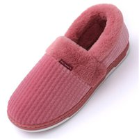 Wholesale slippers for home man resale online - 2020 women Home Slippers Winter Furry Short Plush for Men Slippers Non Slip Bedroom Slippers Couple Soft Indoor Shoes big size Y1123
