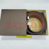 New Big large buckle genuine leather belt designer belts men women high quality mens belts luxury belt with box