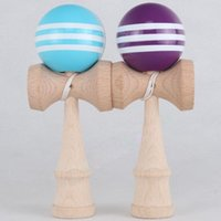 Wholesale kendama traditional japanese toy resale online - Many Colors cm cm PU Kendama Ball Japanese Traditional Wood Game Toy Education Gifts Activity Gifts toys OWF3372
