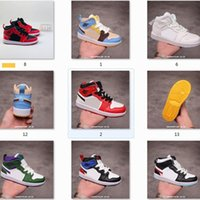 Wholesale best children shoes resale online - best quality Children dunk fashion baskeball Shoes Triple Black OG White Platinum Racer Blue Designers Sports Sneakers Utility with box