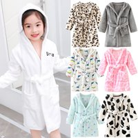 Wholesale girl toddler bathrobe for sale - Group buy Baby pajamas Toddler Baby Boys Girls Hooded Thick Warm Flannel Bathrobe Night robe Pajamas Pijama bebe invierno Y1113