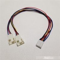 Wholesale motherboard fans resale online - 10pcs Motherboard Cooling Fan Power Splitter Cable Pin to Pin Pin Female to Male for PC DIY CM