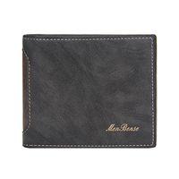Wholesale front pocket wallets resale online - Trifold Wallet Men Business Man Pu Leather Short Clutch Purse Male Color Front Pocket Money Bags