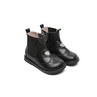 Winter New Princess Leather Boots Comfortable Soft Soled Leather Warm Velvet Children's Shoes Baby Girl Shoes