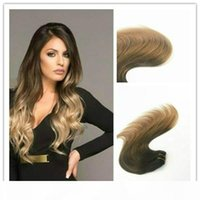Wholesale balayage hair resale online - Human Hair Clip in Hair Extension G Per Bundle Balayage Color High Quality Best Selling Fashion Color Virgin Remy Hair Straight