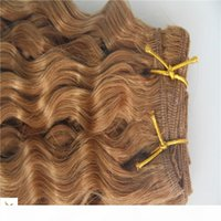 Wholesale strawberry blonde weave hair color resale online - The New Product Strawberry Blonde Color Brazilian Virgin Curly Hair Extension Brazilian Human Remy Hair Weave a Hair