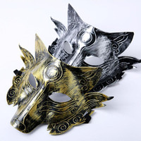 Wholesale masquerade masks resale online - Thick Wolf Mask Party Halloween Masquerade Masks Horror Costume Wolves Ball Bar Decoration Adult Children YHM200