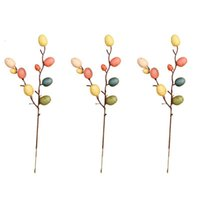 Discount stylish homes decor 3 6 Branches Decorations Stylish Flower Arrangement Easter Egg Tree Decor Branch Adornment for Home Living Room