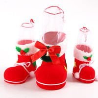 Wholesale christmas gift baskets for sale - Group buy 1pcs Christmas Presents Basket Christmas Candy Bags Santa Claus Boots Gift Bag Wedding Candy Tote Gift Box For Party Home Decor