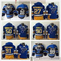 Discount blue xxxl jersey St. Louis Blues Hockey Hoodies Jerseys 91 Vladimir Tarasenko 99 Wayne Gretzky 16 Brett Hull 27 Alex Pietrangelo 90 Ryan O'Reilly Binnington