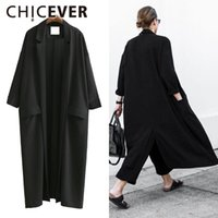 long summer trench women 2021 - CHICEVER 2021 Summer Loose Women Coats Three Quarter Sleeve Plus Size Black Sunscreen Trench Coat For Women's Clothes Korean