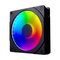 Wholesale motherboard fans resale online - 120mm mm RGB Colorful LED Rainbow Color Fan Halos Aperture for cm Fan Synchronous Motherboard Light Control