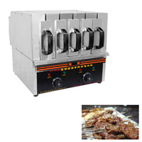 Wholesale barbecue chicken resale online - Commercial Barbecue machine For Roast chicken Stainless Steel Temperature Controlled Smoke Free Environmental Protection Electric BBQ Grill