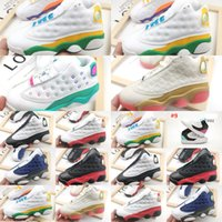 Wholesale sneakers boys size 13 resale online - quality High kids basketball sneaker White Colorful Boy Girls Youth Children s Athletic s Sports shoes Size Outlet