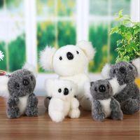 Wholesale small cute stuffed animals resale online - 2020 New cm Super Cute Small Koala Bear Plush Toys Soft Adventure Koala Stuffed Animal Doll Birthday Christmas Gift wmtljo