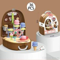 Wholesale girl doctor set resale online - Children Simulation Makeup Jewelry Set Doctor Tools Supermarket Suitcase Kitchen Tableware Play House Kits Kids Toys Girls Education Game
