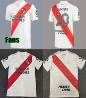 Wholesale uniform shirts sale resale online - 2021 River Plate Home away White Soccer Jersey riverbed River Plate Home Soccer Shirt Customized Football Jersey Uniform Sales