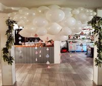 Wholesale balloons arches resale online - 40pcs Thickened Matte White Balloons Air Birthday Decoration Wedding Room Layout Supplies Helium Ballon Arch White Globos S6mz bbyFid