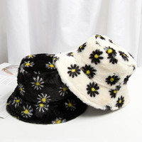 2020 new women's imitation fur winter bucket hat women fashion solid color fishing hat thickened soft warm outdoor holiday