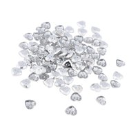 Wholesale Pack of Clear Crystal Heart Acrylic Rhinestone Holes Buttons for Clothes Sewing Making Craft