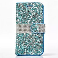 Wholesale note sumsung for sale – best Bling Glitter Diamond Flip Leather Cover Crystal Rhinestone Wallet Case For iPhone X XS Max Xr Plus Sumsung S8 Plus S7 Edge J720