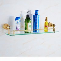 Wholesale phone soap resale online - Europe Gold Copper Jade Bathroom Accessories Hiair Dryer Rack Toilet Paper Holder Ceramic Soap Dish Marble Gold Phone Shelf jllcnt