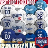 доджерс джерси  оптовых-Moodie Betts Jersey Cody Bellinger Jerseys Clayton Kershaw Los Angeles Custom Custom DoDGers Бейсбол Джерси Джастин Turner Enerique Hernandez Джерси