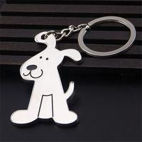 Alloy cute dog bone model keychain souvenir car key chain advertising gift keychain pet key ring Memorials