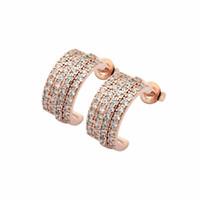 Famous Brand classic 316L Stainless Steel love stud earrings screw crystal earrings for women men Couples fine jewlery wholesale