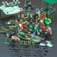 Wholesale toy soldiers resale online - DIY Mini assembly Toy Gun Special Forces Armed Military Doll Soldier Weapon Special Police Building Block Assembly Toy Baby GiftGQ1